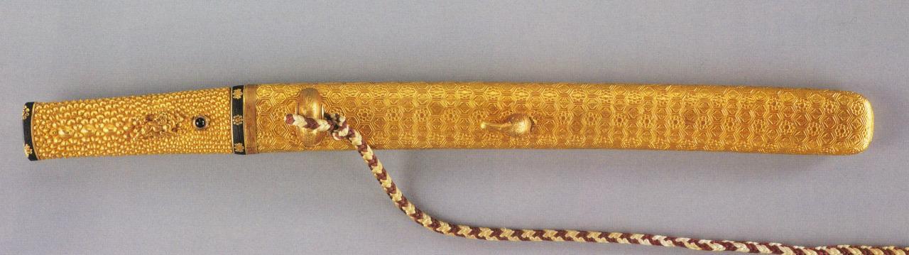 金造亀甲繋文腰刀拵