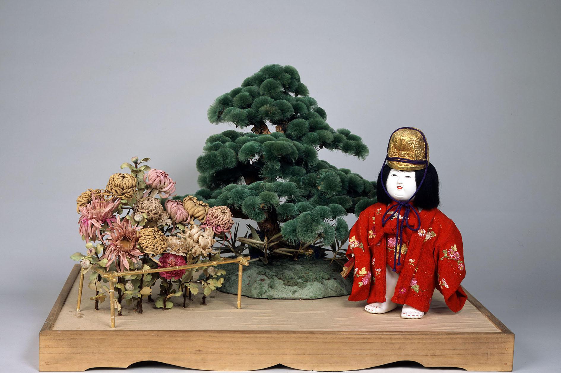 御台人形 老松ニ菊