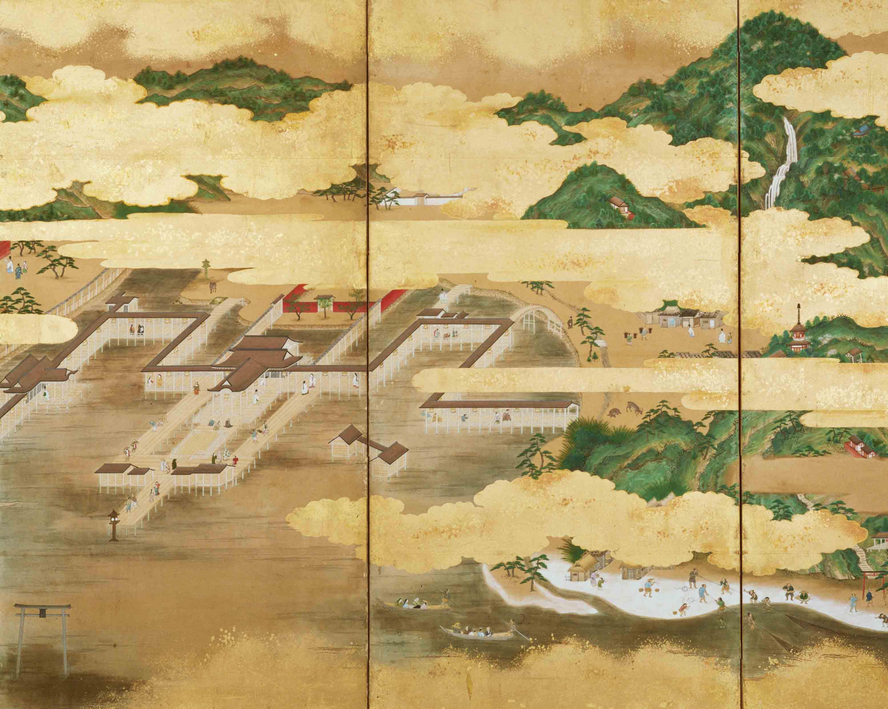 厳島・松島図屏風